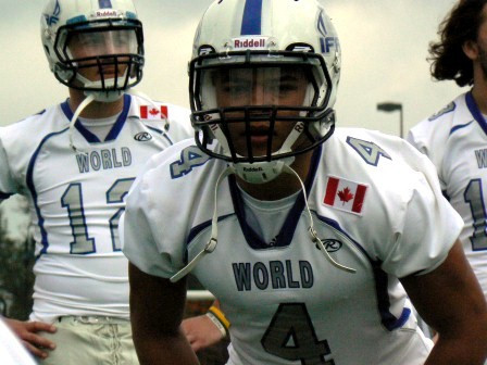 IFAF World Team International Bowl 2012 Kelly Reeves foto: All Sport och Idrott